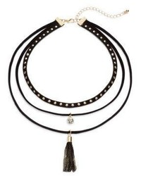 Cara Triple Layered Choker Necklace