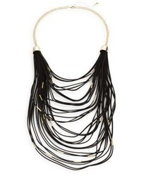 Saks Fifth Avenue Faux Suede Multi Layered Necklace