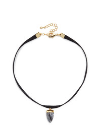 Semi faux suede choker necklace medium 799955