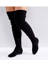 ASOS DESIGN Asos Kasba Wide Fit Flat Over The Knee Boots