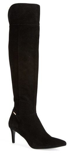 d1d6ce28ae3 $274, Calvin Klein Clancey Over The Knee Boot