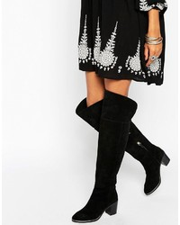 Ted Baker Everde Suede Heeled Over The Knee Boots