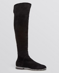Le Silla Flat Over The Knee Boots Crystal | Where to buy & how to wear