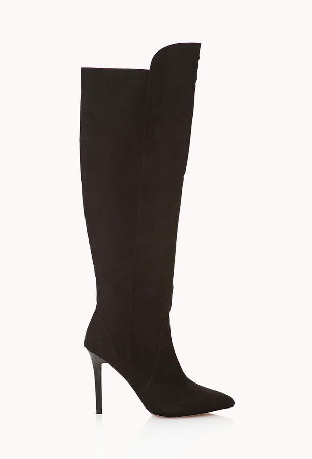 Forever 21 Sleek Over The Knee Boots   Where to buy & how to wear