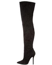 Oscar de la Renta Jacquard Pointed Toe Boots