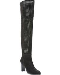 Diane von Furstenberg Jolet Perforated Over The Knee Boot