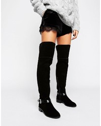 Asos Kassil Suede Western Over The Knee Boots