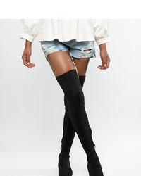 ASOS DESIGN Kelby Flat Elastic Thigh High Boots