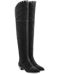 Marc by Marc Jacobs Lula Studded Suede Over The Knee Boots