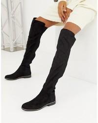 Bershka Ribbed Over The Knee Boot