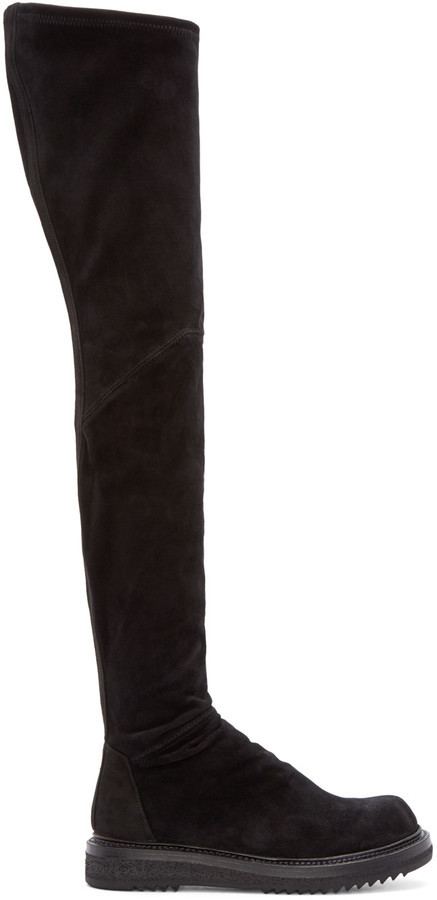 purchase online Rick Owens Leather Knee-High Boots many kinds of online sale new arrival cheap sale exclusive cPoheHMcA0