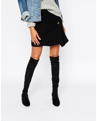 Mango Suedette Over The Knee Heeled Boot