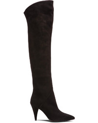 Saint Laurent Thigh High Cat Suede Boots