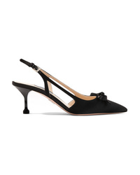 Prada 65 Ed Satin Slingback Pumps