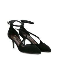 Dolce & Gabbana Black Suede Bellucci Dcollet 70 Pumps