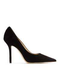 Jimmy Choo Black Suede Love 100 Heels