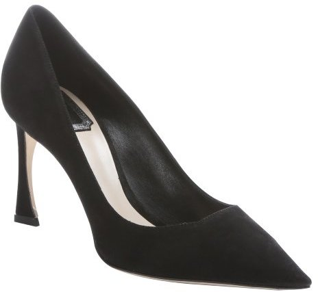 45134d3217 Christian Dior Black Suede Songe Pointed Toe Pumps, $925 | Bluefly ...