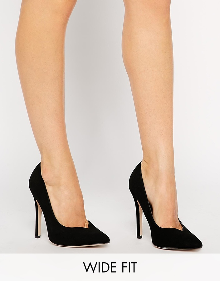 Asos Collection Positive Wide Fit Pointed High Heels | Where to ...