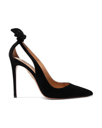Aquazzura Deneuve 105 Ed Suede Pumps