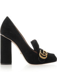 Gucci Fringed Suede Pumps Black