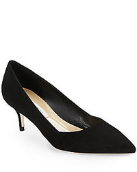 Marcie Suede Kitten Heel Pumps
