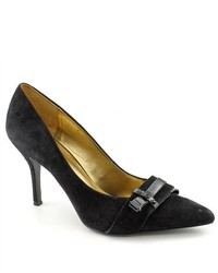 Nine West Francess Black Suede Pumps Heels Shoes Newdisplay