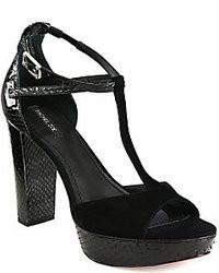 Rachel Zoe Paloma Snakeskinsuede T Strap Sandals