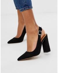 ASOS DESIGN Penley Slingback High Heels In Black