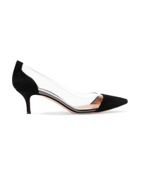 Gianvito Rossi Plexi 55 Suede And Pvc Pumps
