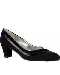 Ros Hommerson Velvet Black Micropatentsuede Heels
