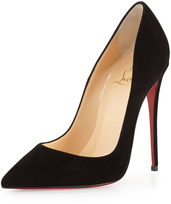 sports shoes d1073 a5f90 $675, Christian Louboutin So Kate Suede Red Sole Pump Black
