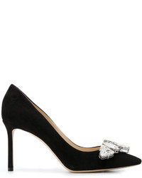 Jimmy Choo Suede Marvel 85 Pumps
