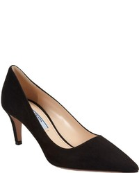 Prada Suede Pump Black
