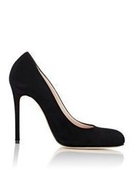 Barneys New York Suede Rounded Toe Pumps