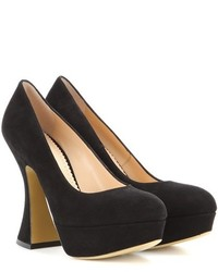 Charlotte Olympia This Is Not A Shoe Suede Pumps