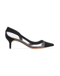 Alexandre Birman Wavee Two Tone Pvc And Suede Pumps