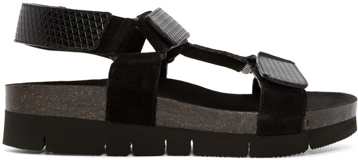 good selling new images of save off Marc Jacobs Black Multi Strap Sandals, $690 | SSENSE | Lookastic.com