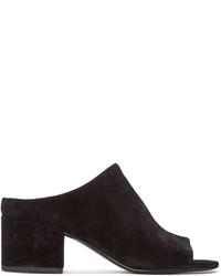 3.1 Phillip Lim Black Suede Cube Sandals