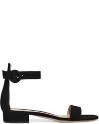 Gianvito Rossi Portofino 20 Suede Sandals Black