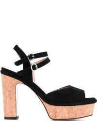 Twin-Set Wooden Platform Sole Sandals
