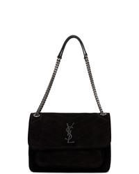 Saint Laurent Black Suede Medium Niki Bag