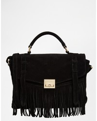 Asos Collection Suede Fringe Satchel Bag