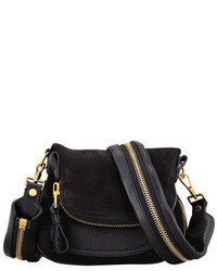 Jennifer suede mini crossbody bag black medium 23864