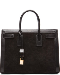 Saint Laurent Large Sac De Jour Suede Carryall Bag
