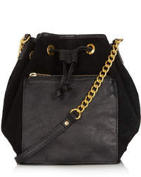 Topshop Pouch Pocket Leather Drawstring Bag