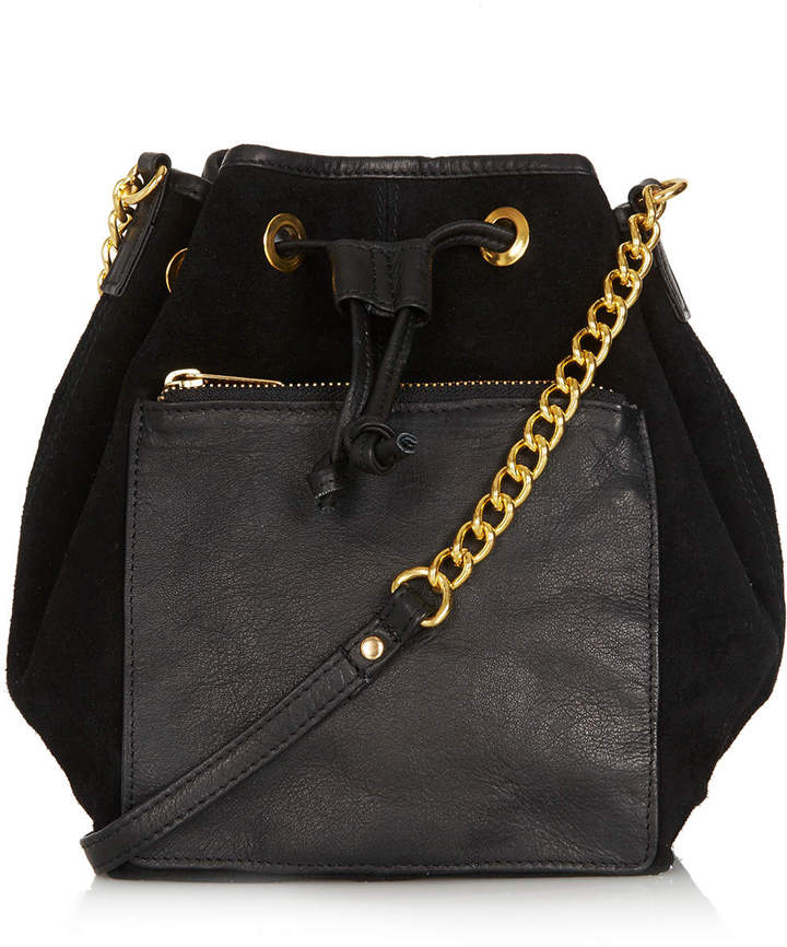 Topshop Pouch Pocket Leather Drawstring Bag | Where to buy & how ...