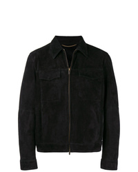 Ajmone Collared Suede Jacket