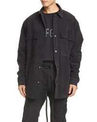 Fear Of God Faux Suede Shirt Jacket