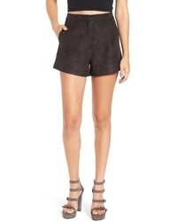 ASTR Hazel High Rise Faux Suede Shorts