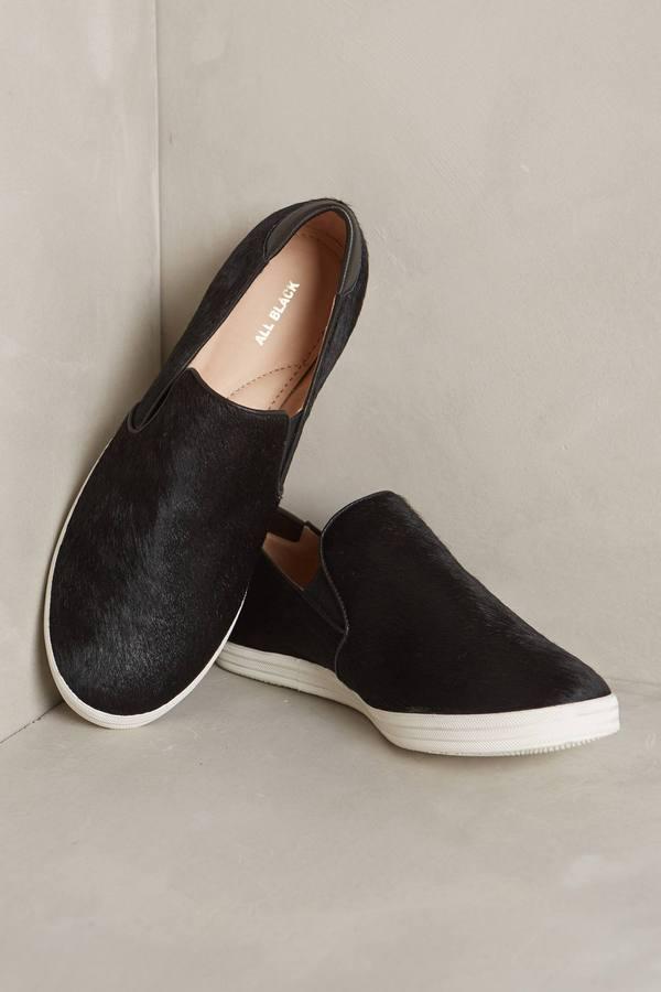 All Black Annona Calf Hair Sneakers